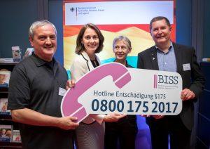 (c) BISS e.V. - Bundesministerin Barley und BISS e.V. veröffentlichen Hotline für Betroffene